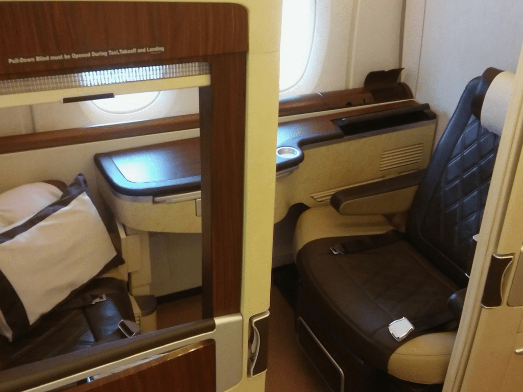 Singapore First Class seat