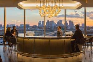 British Airways Boston lounge