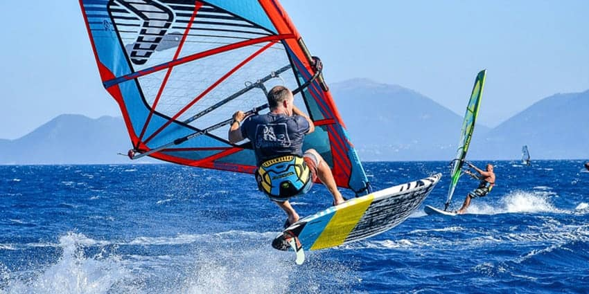 Lefkada in June Windsurf