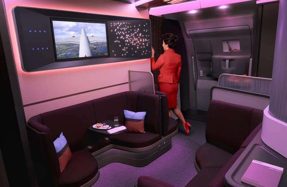 Virgin A350 TV