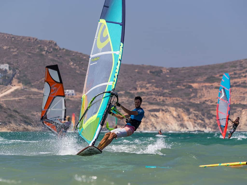 Windsurfing in Naxos Greece
