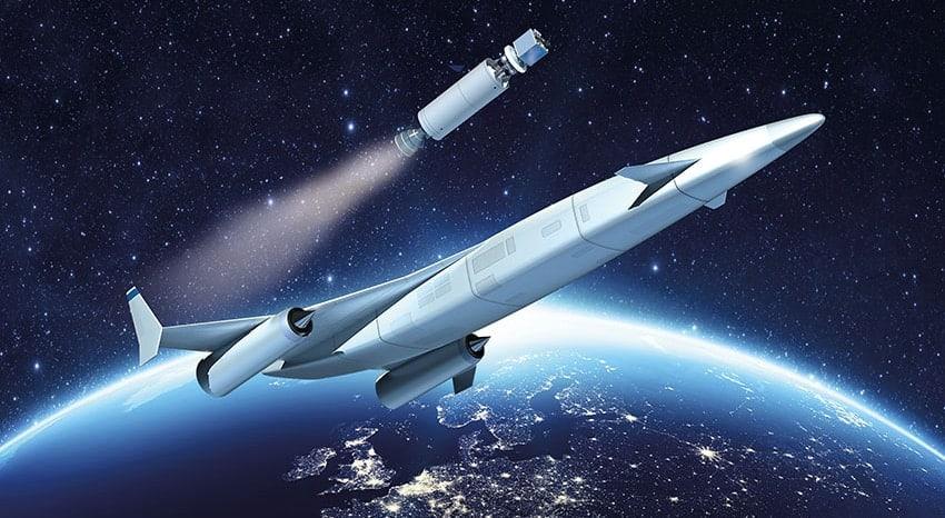 Sabre Rocket Plane into Orbit