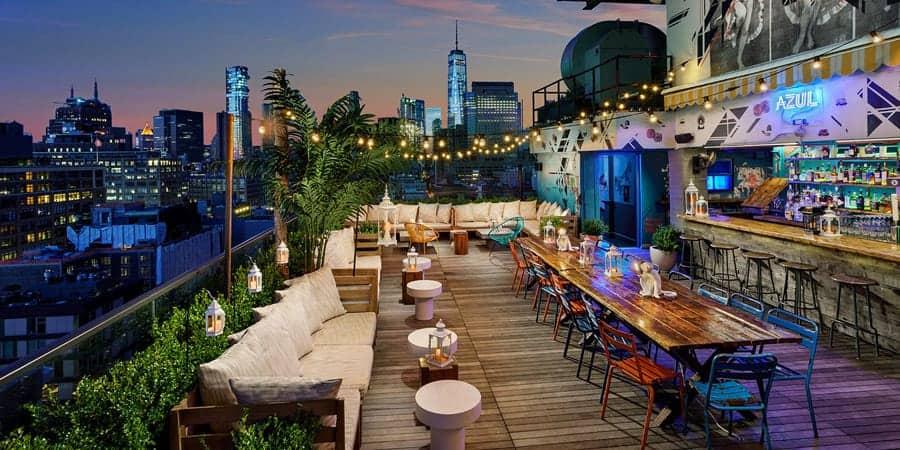 Azul on the rooftop bar