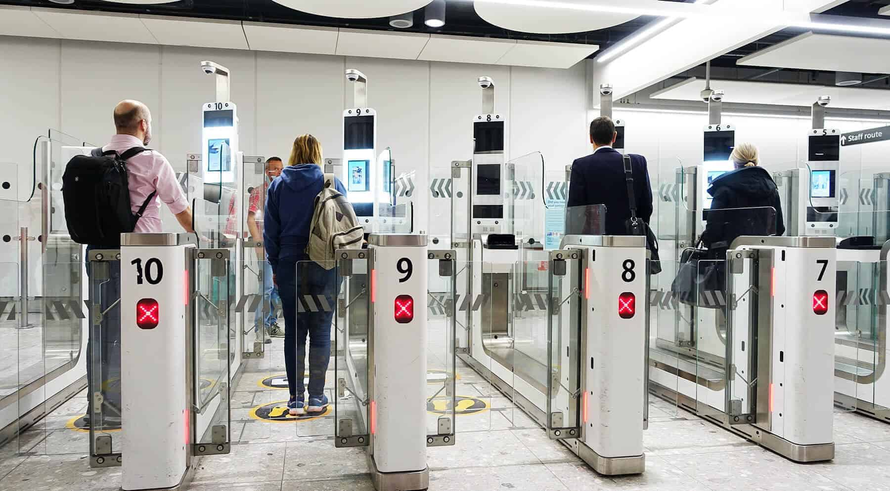Facial recognition for airport security