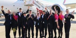 Qantas celebrating