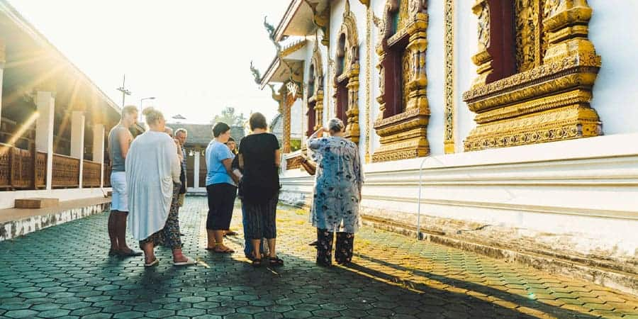 Lampang temple offering Intrepid Explore Northern Thailand